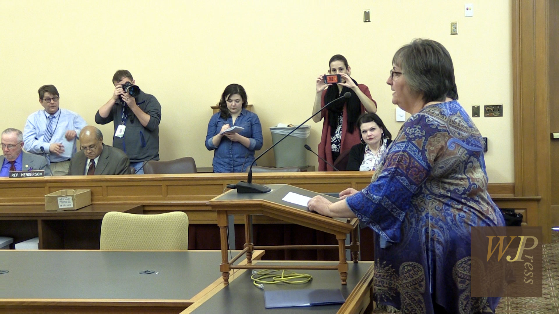 hb medicaid expansion bill nd day hearing features suzan emmons self employed housekeeper in the coverage gap gives a face to the