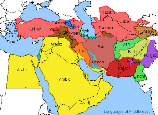 Religion islam is a politico religious system map showing the linguistic divisions that predominate in different muslim countries gumiabroncs Image collections