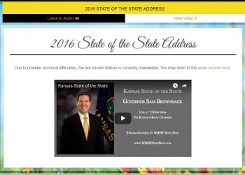 Kansas 2016 State of the State Address