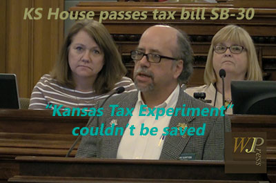 Kansas House income tax debate: Republicans knew the 'Kansas Experiment' couldn't be saved title