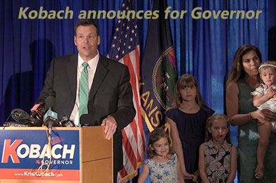 Kansas Secretary of State Kris Kobach announces as candidate for Kansas Governor (FULL EVENT)