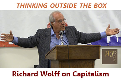 Economist Richard Wolff speaks about capitalism, socialism & democracy, proposing a new way forward title